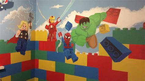 lego wall murals custom artwerk