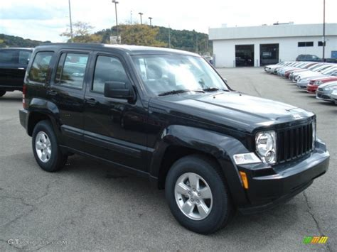 Jeep Liberty 2012 Black 2012 Black Forest Green Pearl Jeep Liberty Sport 4x4