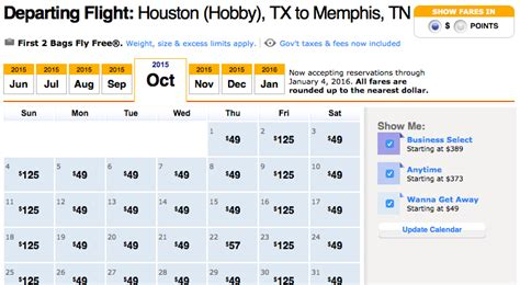 Fly Fare Calendar Big Southwest Sale Fares Start At 2 240 Points Or 49
