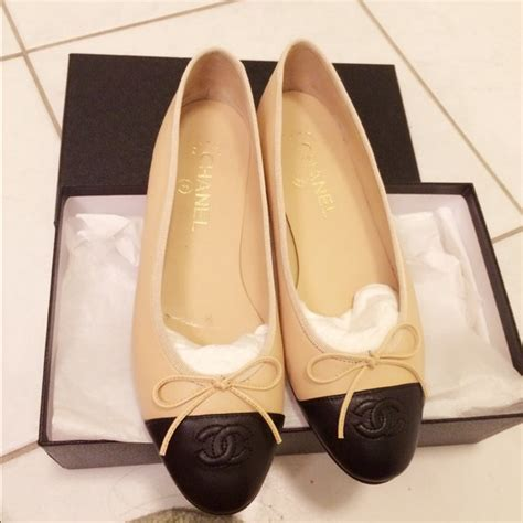 chanel classic ballerina flat shoes chanel shoes sold classic ballet flats in beige poshmark