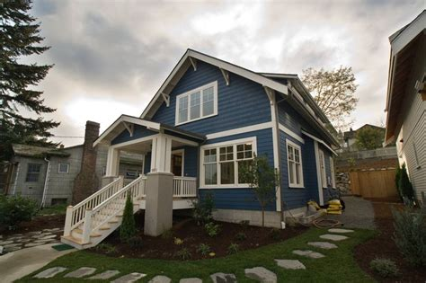 craftsman bungalow exterior color blue studio design gallery best design