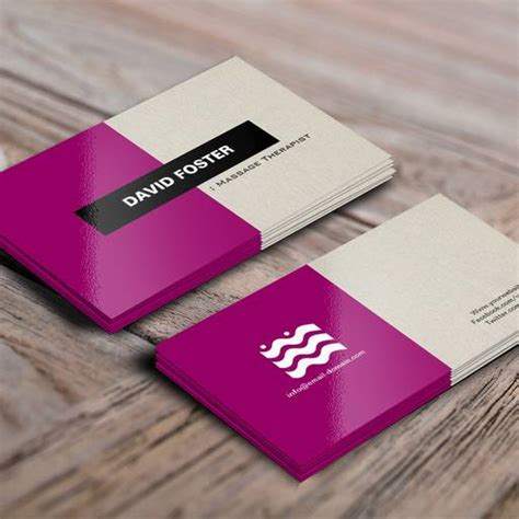 therapist business card templates therapist simple stylish business card