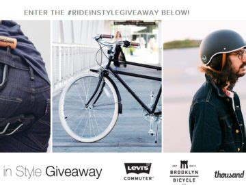 In Style Sweepstakes - brooklyn bicycle co ride in style giveaway sweepstakes
