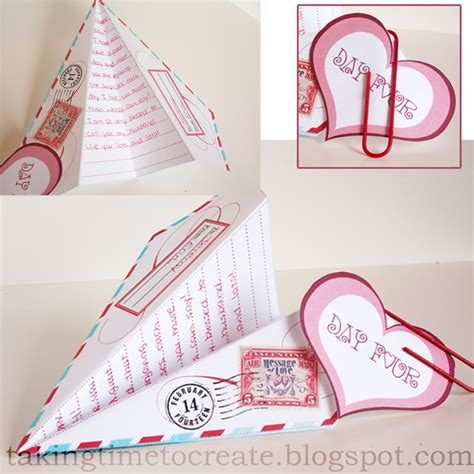 printable valentine paper airplane taking time to create 14 days of valentine s for 5 00