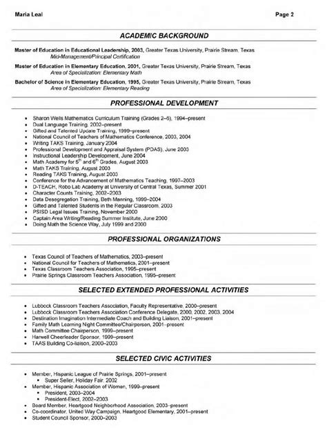 resume sle science 28 images associates degree in