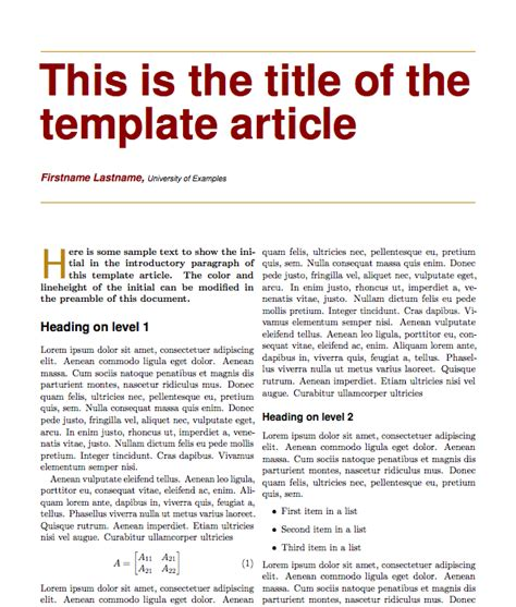article template best photos of magazine article format template