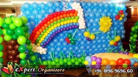 Expert organisers chandigarh hotel western court rainbow theme birthday balloon decoration