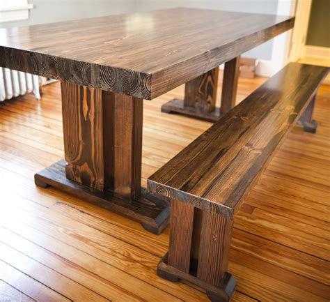 farmhouse style wood dining bench 8ft butcher block style table solid wood farmhouse by