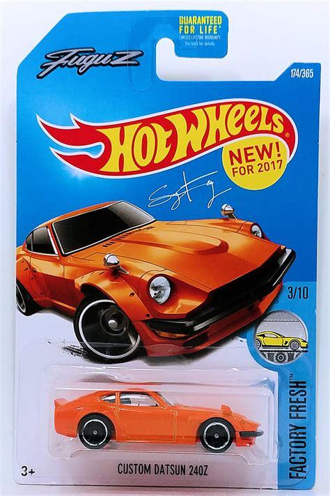 Sale Custom Datsun 240z Orange Fuguz Wheels Hw Mtf36 custom datsun 240z model cars hobbydb