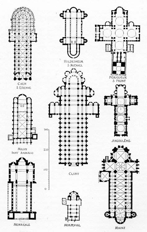 plans of romanesque churches church blueprints