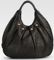 Badgley Mischka Platinum Scarlet Tote by Badgley Mischka Platinum Label Anu Structured Leather Hobo