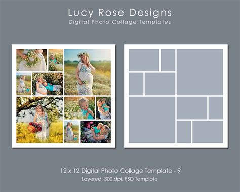 12 photo collage template 12 x 12 photo collage template 9