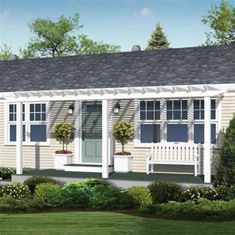 single story house plans with large front porch ranch big