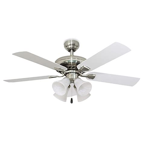 52 inch ceiling fan with light buy 52 inch federal hill 4 light brushed nickel ceiling