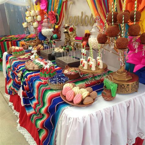 photo themed party fiesta mexican bridal wedding shower party ideas