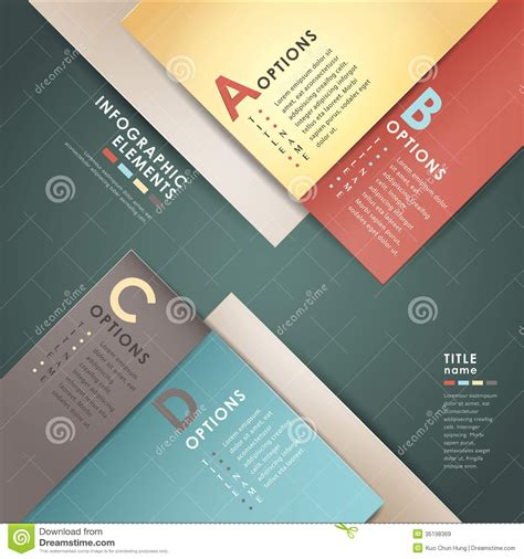 web layout options vector abstract 3d paper infographics stock vector