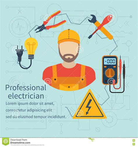 professional electrician icon stock vector image 72027337