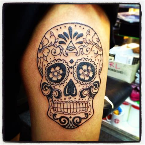 men s sugar skull tattoo the world most popular skull tattoos among world