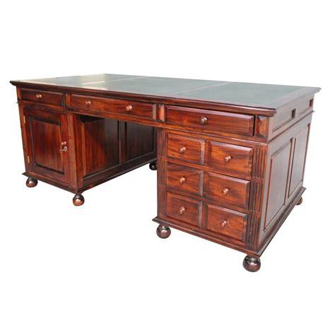 Solid Mahogany Desk by Solid Mahogany Wood Large Partner Writing Desk Office