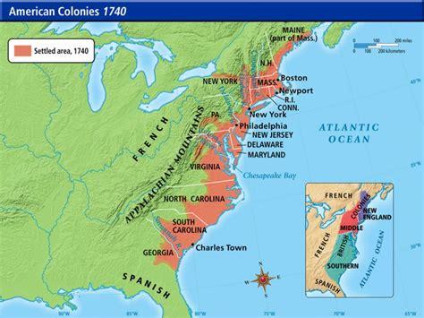 american colonies american colonies  map american