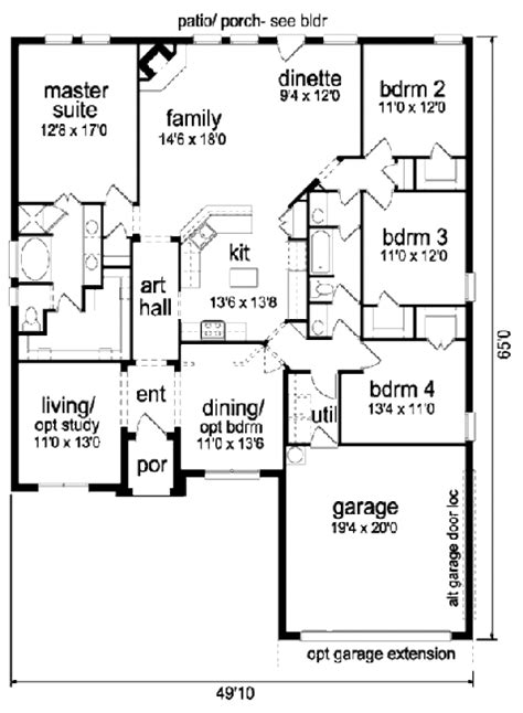 2300 Sq Ft House Plans Traditional Style House Plan 4 Beds 2 Baths 2300 Sq Ft Plan 84 366