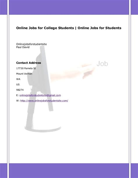 online jobs for college students no experience or investment required