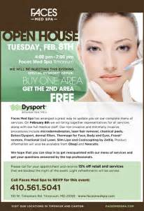 6 best images of medical open house flyers medical spa