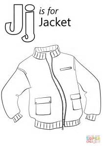 letter j coloring page letter j is for jacket coloring page free printable