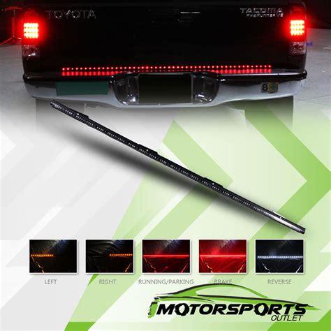 Truck Led Light Strips 60 Quot 5 Functions Led Rear Brake Truck Tailgate Light Bar Up Ebay