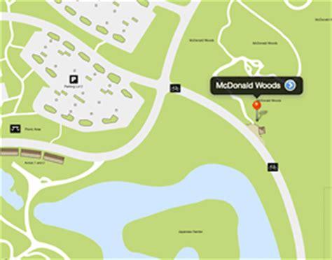 chicago botanic garden map mcdonald woods chicago botanic garden
