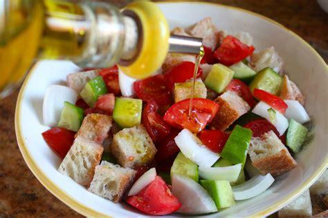 italian bread salad recipe ina garten panzanella recipe dishmaps