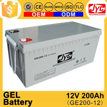 Baterai Best One All Type best cycle solar panel gel battery 12v 200ah for