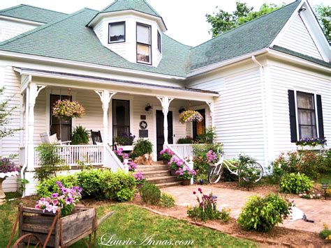 farmhouse porch laurieanna s vintage home april showers may flowers and smiles