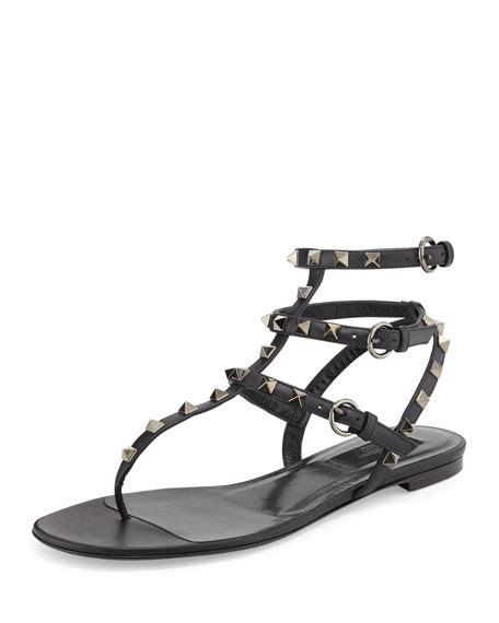 Valentino Garavani Noir valentino garavani rockstud noir flat sandal noir