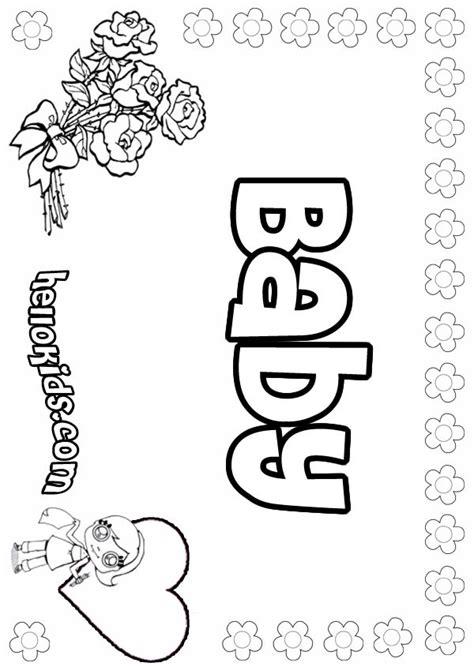 coloring page of baby girl baby coloring pages hellokids com