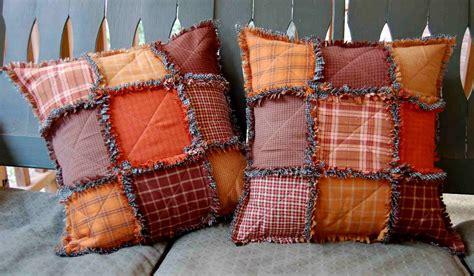 Rag Quilt Pillows by The Arkansas Quilter Fall Rag Pillows