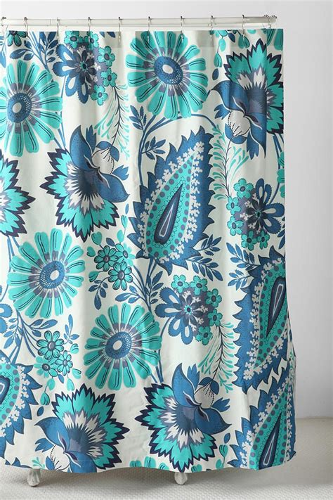 turquoise paisley curtains shower curtain modern home designs pinterest
