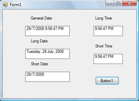 format date vb net formatting date and time in visual basic 2008