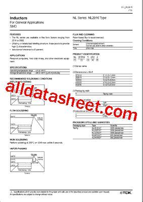tdk capacitors datasheet nl252018t 1r0j datasheet pdf tdk electronics