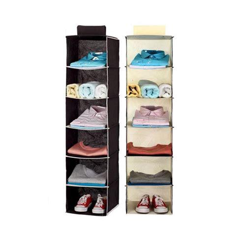 Hanger Bag Organizer 5 Susun Rak Tas Karakter 5 Susun Karakter household wardrobe clothes hanging bag 6 shelf shoe cosmetic organizer rack storage