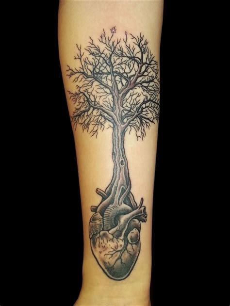 heart tree tattoo tree images designs