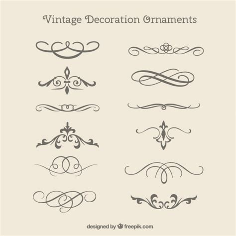 Wedding Fonts Pack Free by Vintage Decorative Ornaments Pack Vector Free