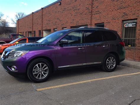 purple nissan 2013 nissan pathfinder gets purple chameleon wrap