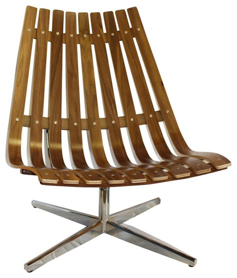 Bent Wood Lounge Chair by Walnut Bent Wood Low Back Swivel Lounge Chair