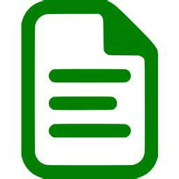 Green document icon - Free green file icons