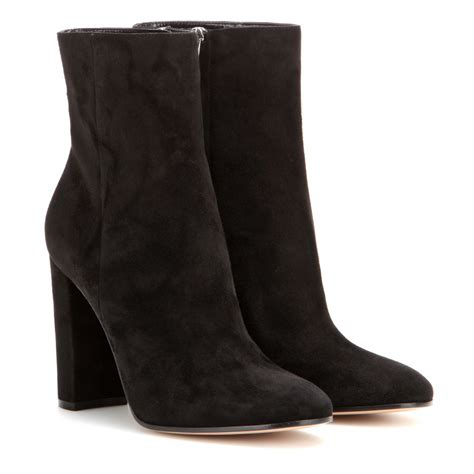 gianvito suede boots lyst gianvito suede ankle boots in black