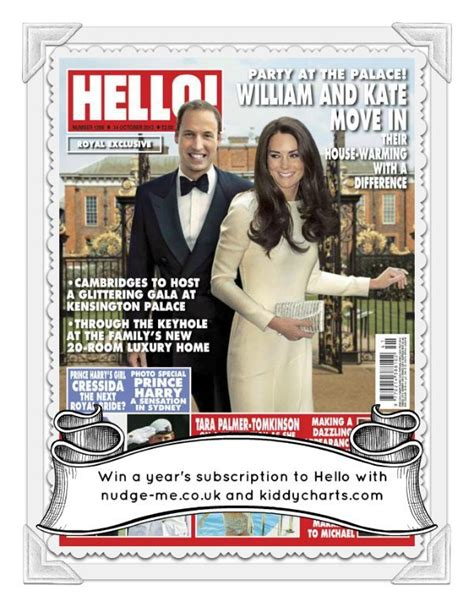 Magazine Giveaways - giveaway win year s sub to hello magazine with www nudge me co uk worth over 163 100