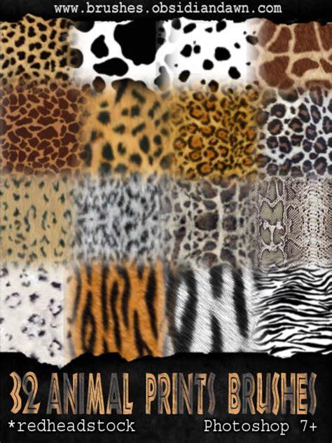 tiger pattern brush photoshop gimp animal prints brushes by project gimpbc on deviantart