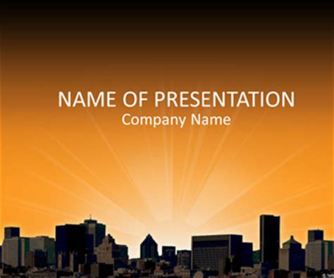 City Landscape Powerpoint Template Templateswise Com City Powerpoint Template