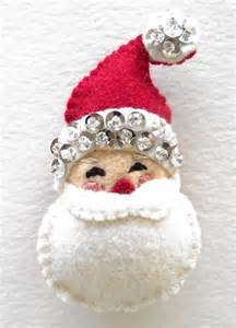 felt and sequin santa ornament 1 navidad christmas